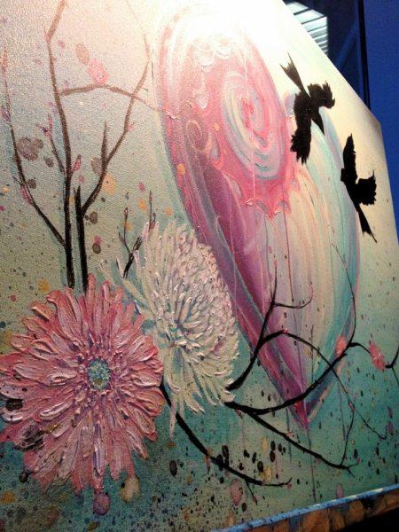 Alaska artist Jamie Bottoms live wedding unity painting