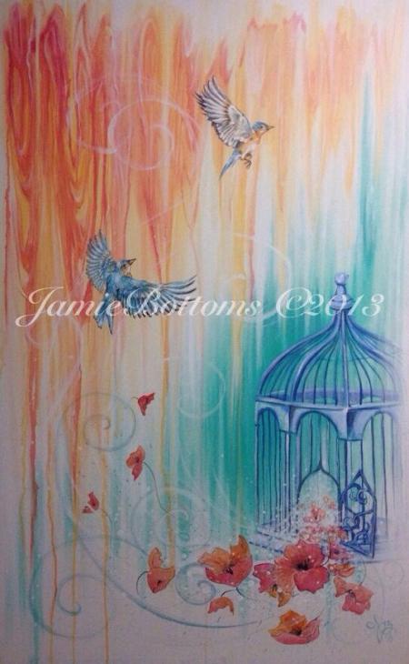 Alaska Artist Jamie Bottoms Sweet Escape painting