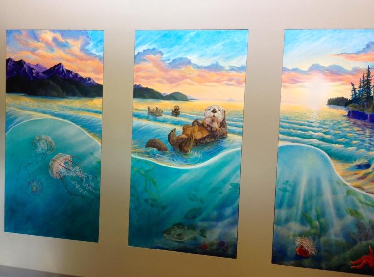 Alaskan Artist Jamie Bottoms Capstone Family Medicine Mural