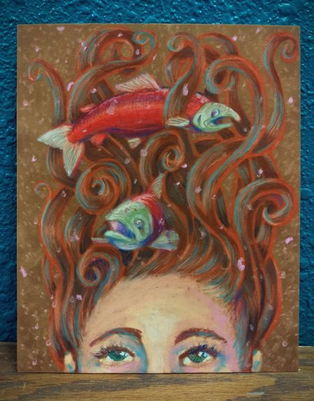 Alaska Artist Jamie Bottoms River Reds