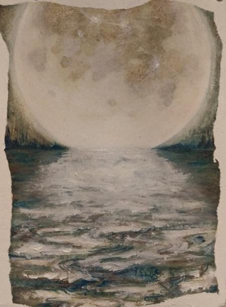Alaskan artist Jamie Bottoms In the Pale Moonlight