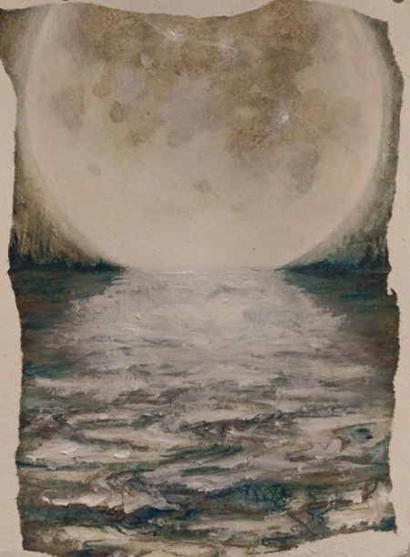 Alaskan artist Jamie Bottoms In the Pale Moonlight