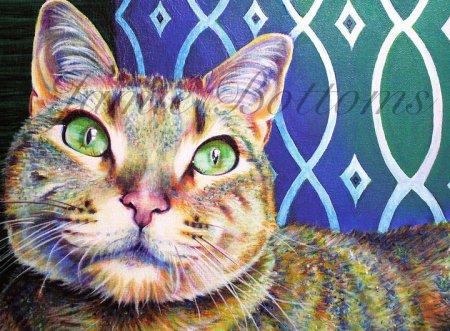 Alaskan Artist Jamie Bottoms Commissioned pet portrait
