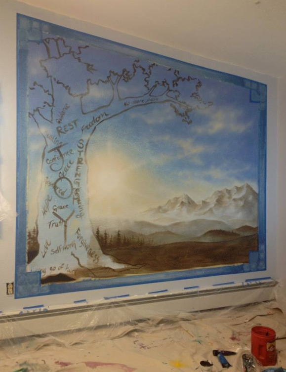 Alaskan artist Jamie Bottoms The Children's Place Mural